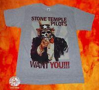 Stone Temple Pilots Stp Vintage Mens Uncle Skull T-shirt