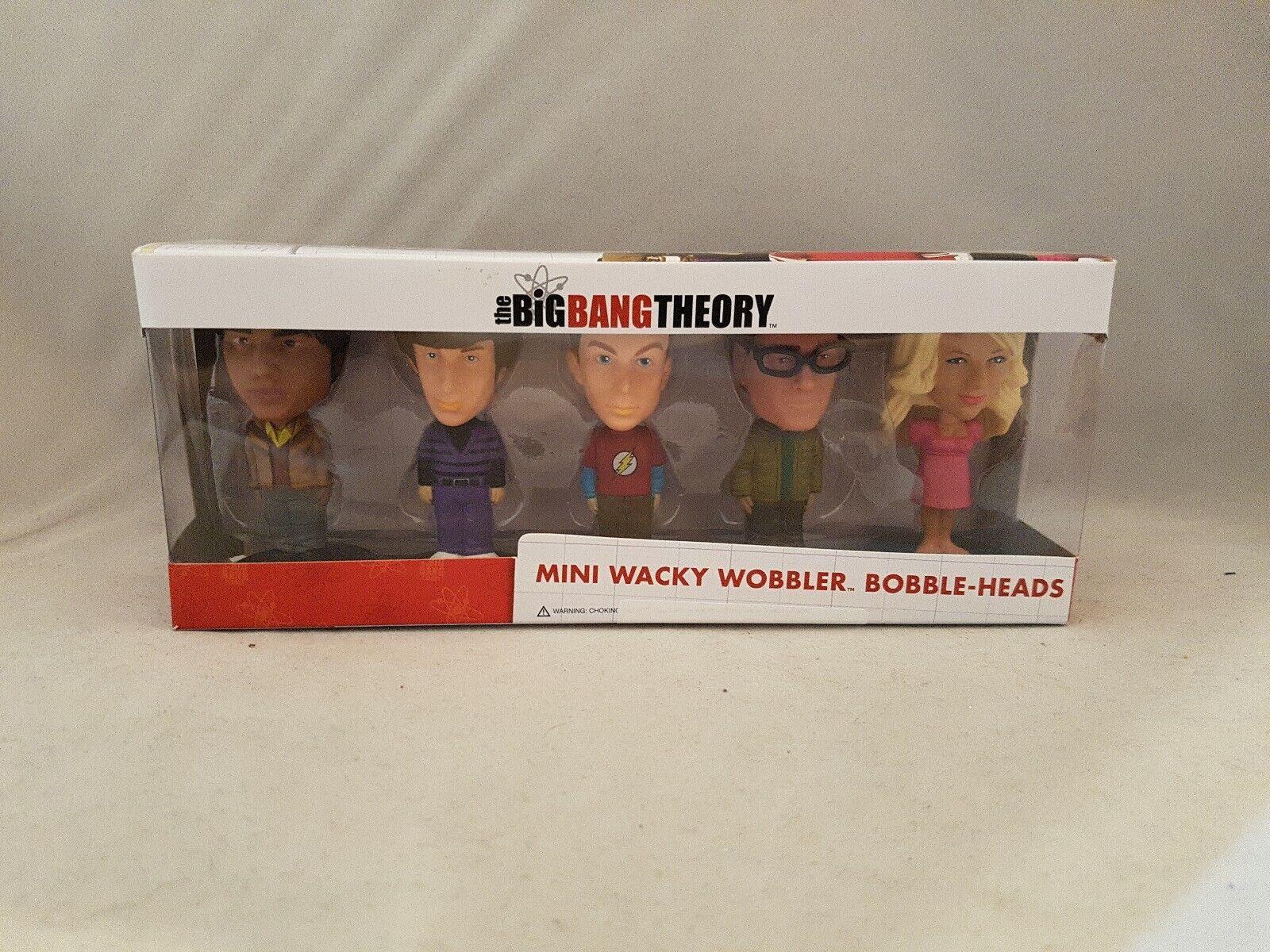 FUNKO THE BIG BANG THEORY MINI WACKY WOBBLER Bobble Head 5PK Set