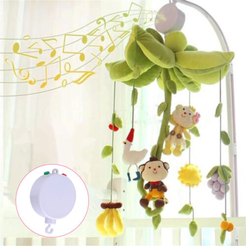 Infant Baby Mobile Crib Bed Toy Music Box Pushchair Hanging Bell Holder