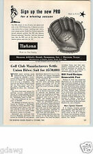 1962 PAPER AD Nokona Texas USA Made Baseball Glove Field Rite Pocket Pro Line