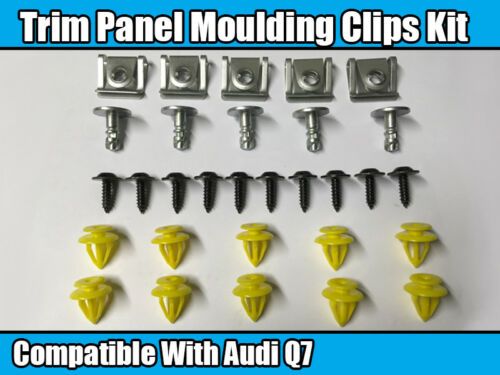 Clip Set For AUDI Q7 Bumper Wheel Arch Door Panel Moulding Trim Engine Cover Kit