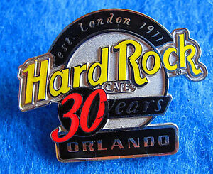 Orlando-30TH-Anniversaire-Argent-Logo-Est-London-1971-4LC-Hard-Rock-Cafe-Tac-Pin