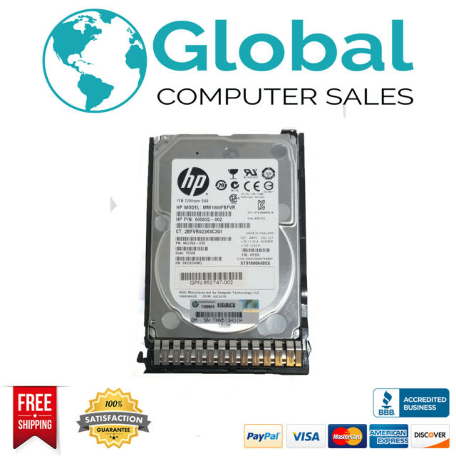 HP 1.2TB 6G SAS 10K 2.5IN ENT SC HDD/S-B