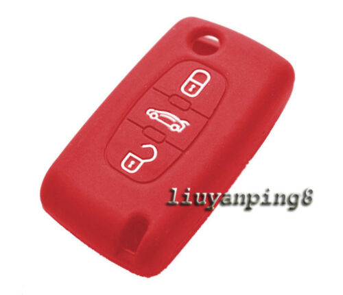 3 Buttons Silicone Cover Remote Key Case Shell For Peugeot 407 307 107 207 607