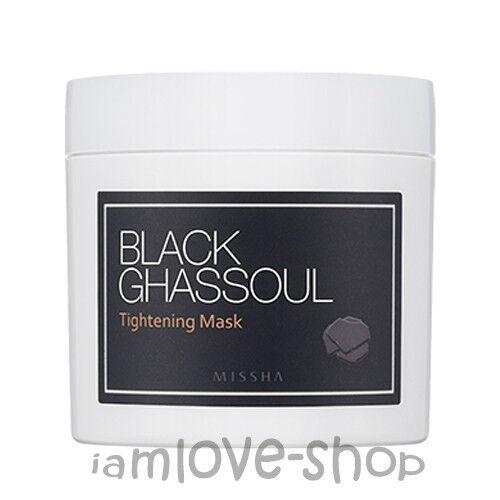[Missha] Black Ghassoul Tightening Mask 95g Wash-off Pack Pore Sebum Control