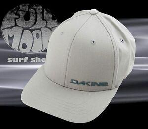 57777f4b1 Details about New Dakine Men's Silicone Rail Gray Flexfit Cap Hat
