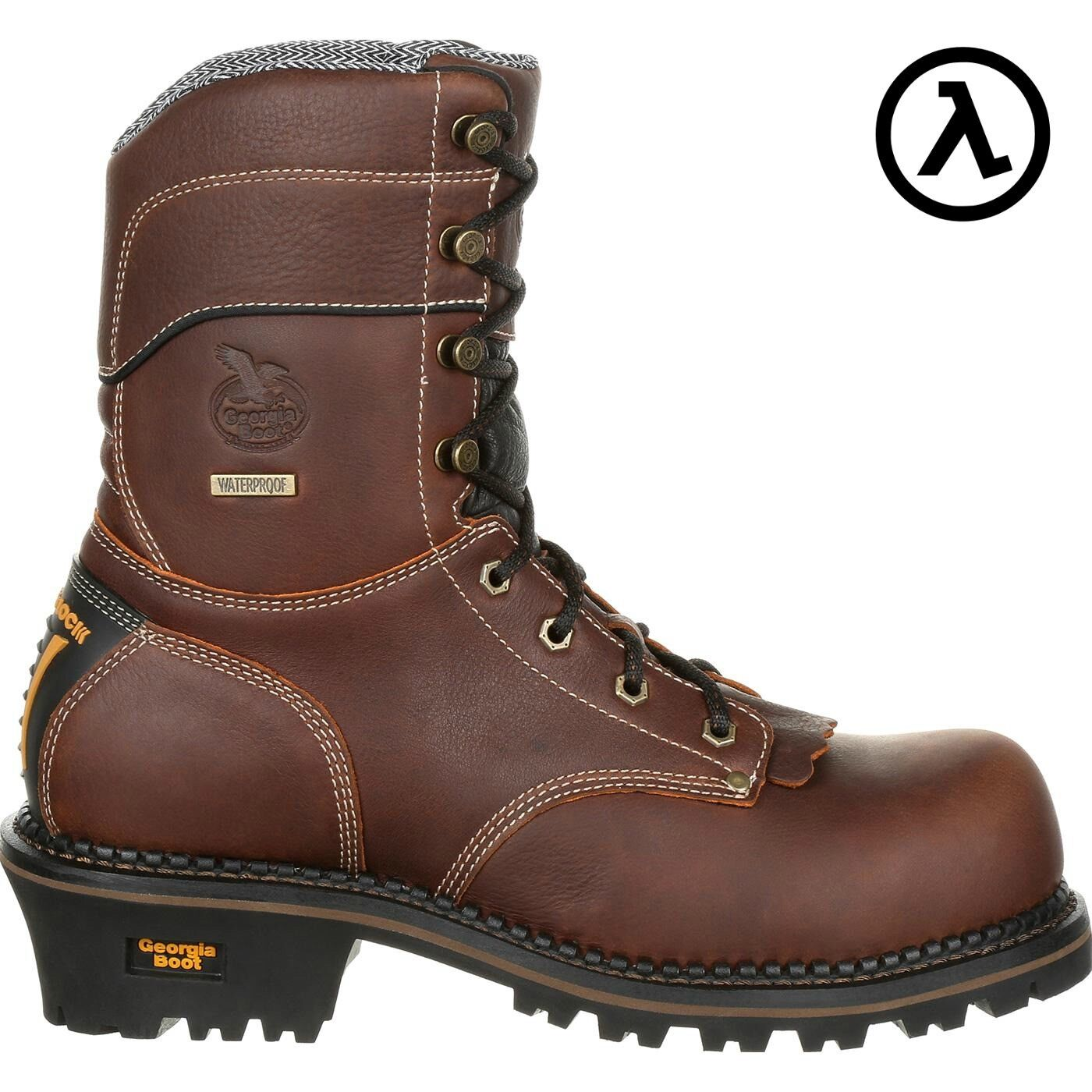GEORGIA 9  COMPOSITE TOE AMP LT LOGGER WATERPROOF WORK BOOTS GB00236  ALL SIZES