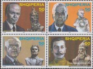 Albanien-2954-2957-Viererblock-kompl-Ausg-postfrisch-2003-Kuenstler