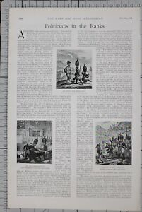 1901-PRINT-POLITICIANS-IN-THE-RANKS-54th-REGIMENT-COBBETT