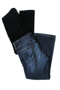 AG-Womens-High-Waisted-Straight-Leg-Jeans-Medium-Blue-Wash-Size-31-Lot-of-2