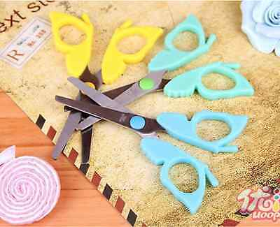 US Lot 4pcs School Safety Scissors Korean Stationery kids paper craft Butterfly