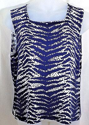 Coldwater Creek XL Sweater Blue Silk Cotton Sleeveless