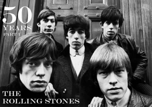 The Rolling Stones Vintage Large BOX CANVAS Art Print Black /& White All Sizes