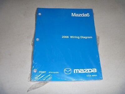 2008 mazda 6 mazda6 electrical wiring diagram manual sport grand touring  new  ebay
