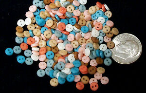 2-hole BASIC MIX NOW MORE--500 Tiny Doll Buttons 4mm