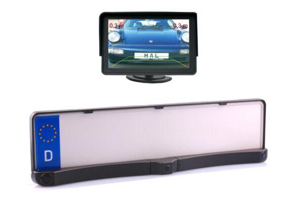 """100% Kwaliteit Nummernschildkamera 2 In 1 Inkl. Sensoren 7"""" Monitor Passt Bei Chevrolet Tegen Elke Prijs"""