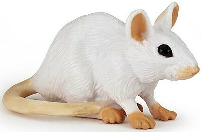 FREE SHIP//USA w// $25. WHITE MOUSE Replica # 50222 ~ New for 2017 Papo Products