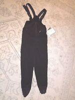 Schoeller Skifans Women's Black Skiwear Pant Bib Black Wool Blend Size 10