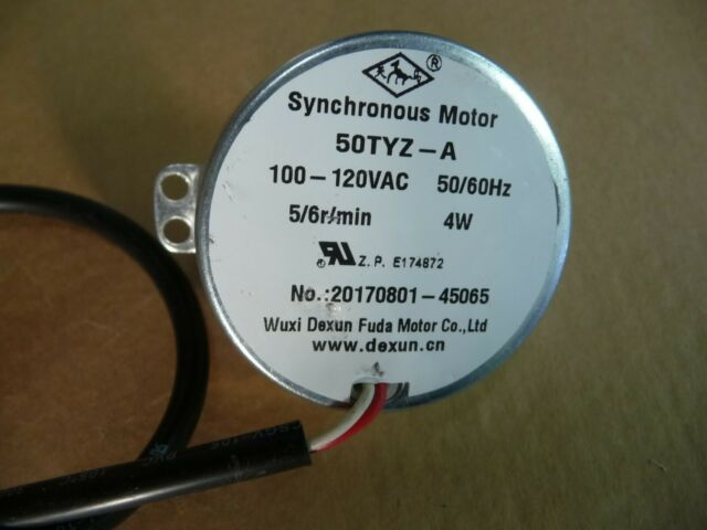 AC 12V Synchronous Motor TYC30 Synchronous Motor AC 12V 4W 5-6RPM CCW//CW Permanent Magnet Synchronous Motor with Wire Lead Model Industrial Control Motor for Hand-Made