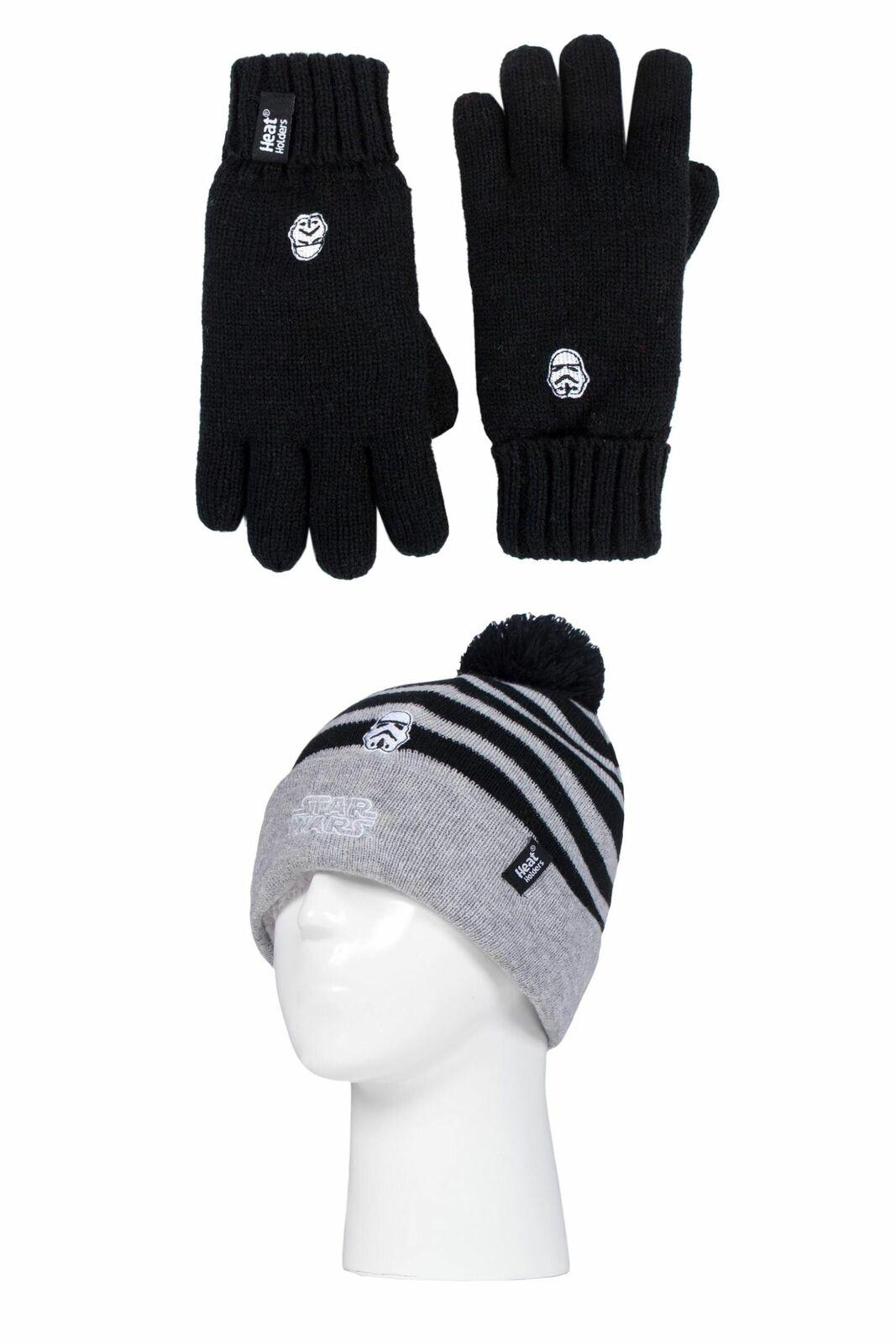 Kids 1 Pack SOCKSHOP Heat Holders Disney Star Wars Hat & Glove Set