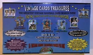 2019 Vintage Tarjetas TREASURES béisbol Chase Pack Caja encontrar 1952 TOPPS MANTLE!