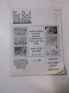 Vintage-Apple-II-IIe-IIgs-Big-Red-Software-Catalog