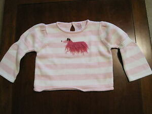 *NEW* GYMBOREE LITTLE GIRLS 2T 4T CUTE PUPPY DOG PULLOVER SWEATER