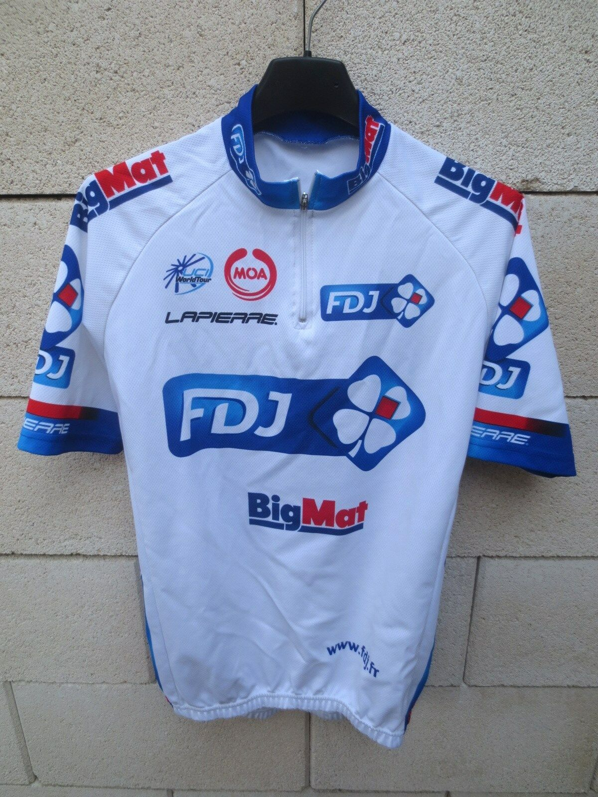Fdj cycling  jersey big mat 2012 francaise des jeux uci pro tour jersey shirt m  high quality genuine