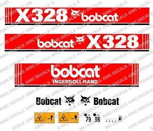 Bobcat-X328-MINI-EXCAVADORA-SET-DE-ADHESIVOS