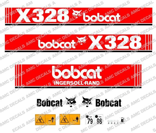 Bobcat X328 MINI EXCAVADORA SET DE ADHESIVOS