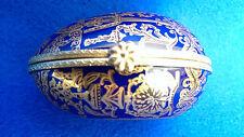 prunkvolles Porzellan Ei Dose kobaltblau Golddekor Manufaktur Rudolf Kämmer