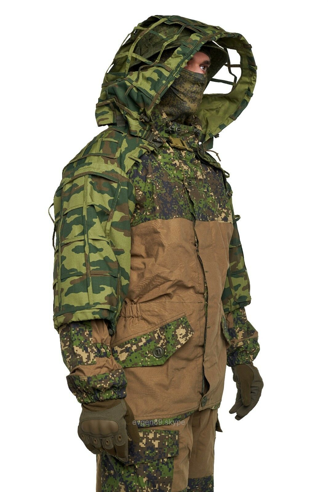 Disguise Sniper Coat   Scorpion    Viper Hood Flora VSR-98 by Giena Tactics  cheap online