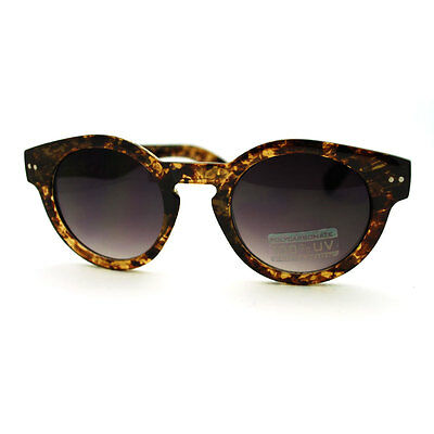European Designer Thick Plastic Keyhole Sunglasses - Brown Smoke