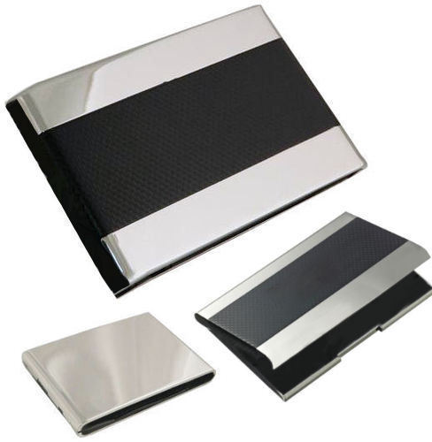 Personalised Black Carbon Fibre Purse Business Card Holder Engraved