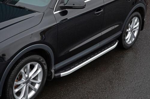 Barras laterales de aluminio pasos que ejecutan las placas para caber AUDI Q3 2012+