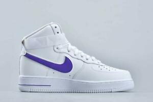 Details about Men's Nike Air Force 1 '07 High White/Purple UK 13 AT4141 103