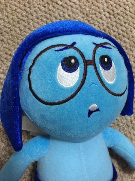 """""""tristesse"""" From Inside Out 10"""" Disney Store Pixar Jouet Doux En Peluche Excellent"""