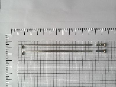 High Quality Bike Stainless Steel 14G=2mm Spokes/&nipples 10-72 set 236-310 mm