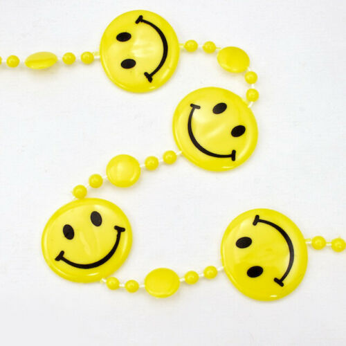 32 Ft #CUR015 Smiley Face Bead Strand for Curtain