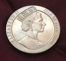 Isle of Man 1 Crown 2000 Gem UK Elizabeth II Year of the Dragon UNC & FREE GIFT