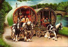 """Romany Gypsy """"Summer Magic"""" Reading Vardo Caravan Bow Top Wagon card"""