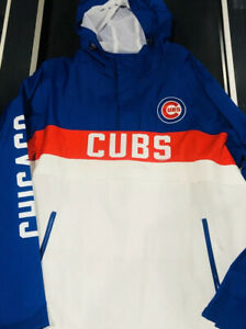 Chicago-Cubs-Mens-1-2-Zip-Pullover-Hoodie-NWT-Size-XL-Jacket-Gill-MLB-Authentic
