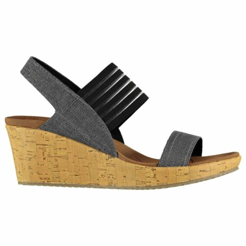 Skechers Damen Beverlee SK Sandaletten Keilabsatz Sandalen Freizeitschuhe