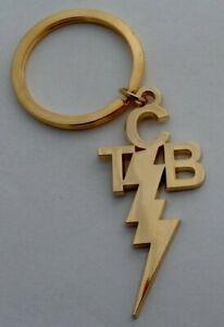 Elvis-Presley-Taking-Care-of-Business-Gold-Gilt-TCB-KeyChain-KeyRing