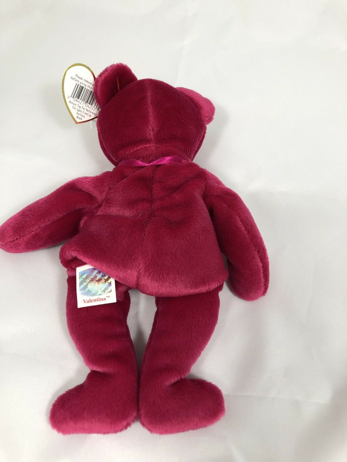 Ty Ty Ty Beanie Baby VALENTINA Bear EXCELLENT CONDITION ERRORS    ebdb7d