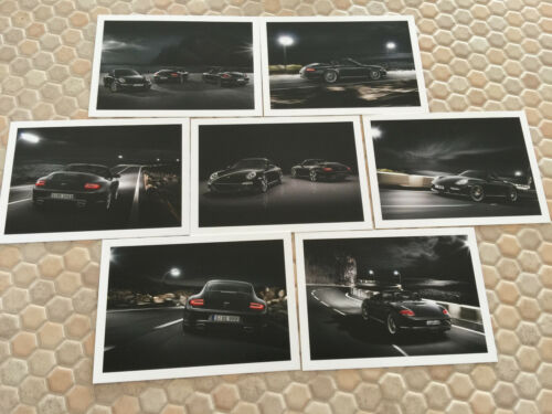 PORSCHE OFFICIAL BLACK EDITION 911 /& BOXSTER S POST CARD SET OF 7 NEW 2011