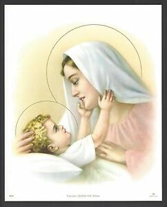 Catholic-Print-Picture-Blessed-Virgin-Mary-with-Holy-Child-Jesus-8x10-034