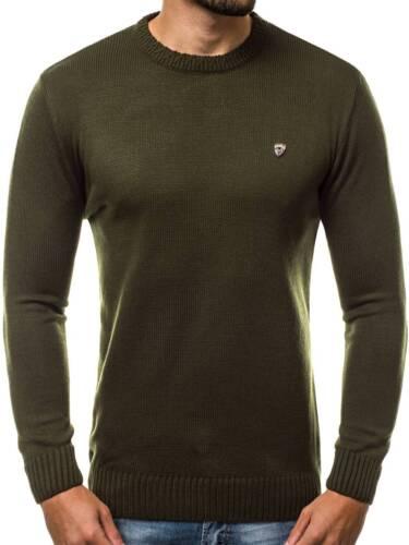 OZONEE 8067 Herren Strickpullover Langarmshirt Sweatshirt Figurbetont Sweats MIX