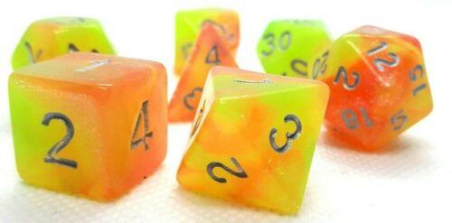 RPG Würfel Set 7-teilig Poly DND Rollenspiel dice4friends Carribean w4-w20 Top