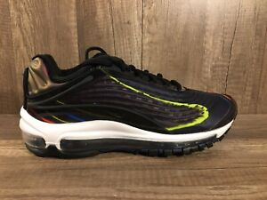 1cc96fa785 Nike Air Max Deluxe Black Midnight Navy Womens size 7.5 Reflective ...